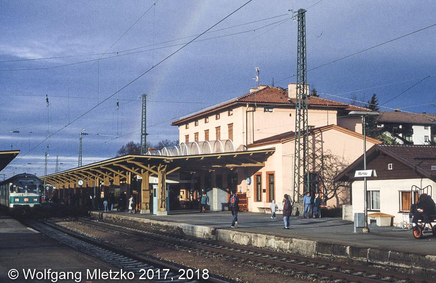 Bahnhof Murnau am 24.01.1993