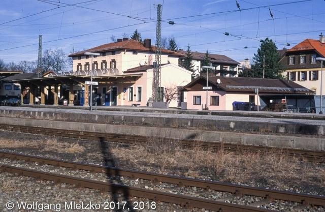 Bahnhof Murnau am 22.01.1999