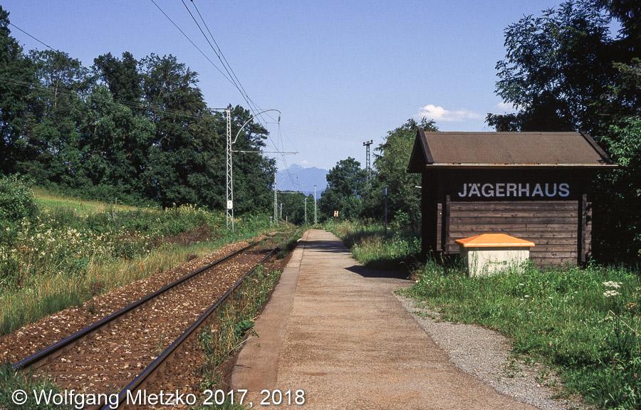 Haltestelle Jägerhaus am 26.07.1999