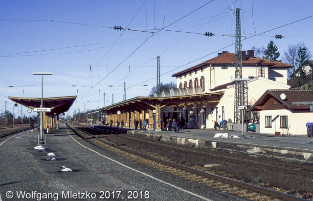 Bahnhof Murnau am 28.01.2001
