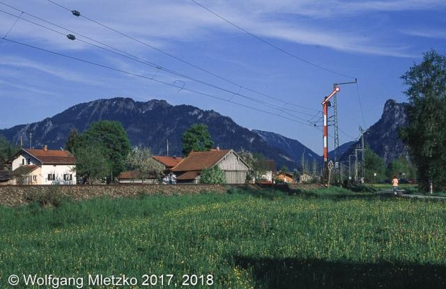 Einfahrsignal Unterammergau am 20.05.2005
