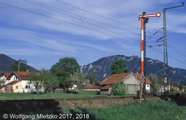 Einfahrtssignal in Unterammergau am 20.05.2005