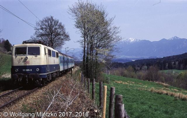 111 005-5 bei Bad Kohlgrub im 04/1994
