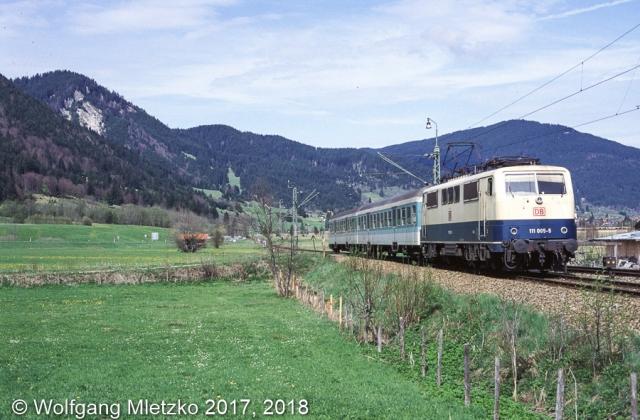 111 005-5 bei Oberammergau am 09.05.1998