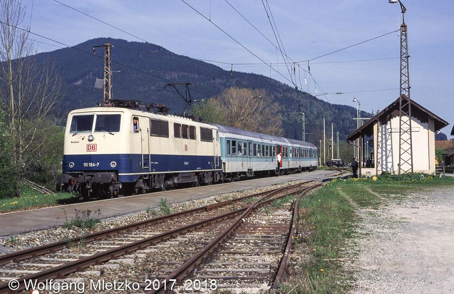 111 194-7 in Unterammergau am 09.05.1998