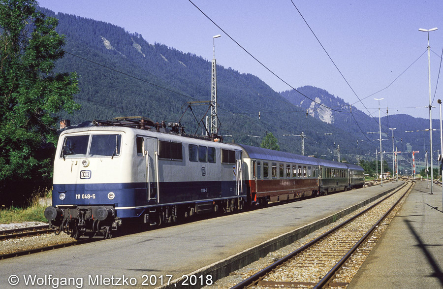 111 048-5 in Oberammergau am 31.08.1985