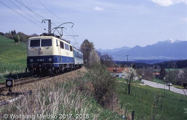 111 194-7 bei Bad Kohlgrub am 20.04.1998