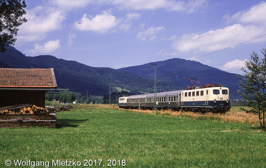 141 128 und 141 238 bei Oberammergau am 31.07.1988