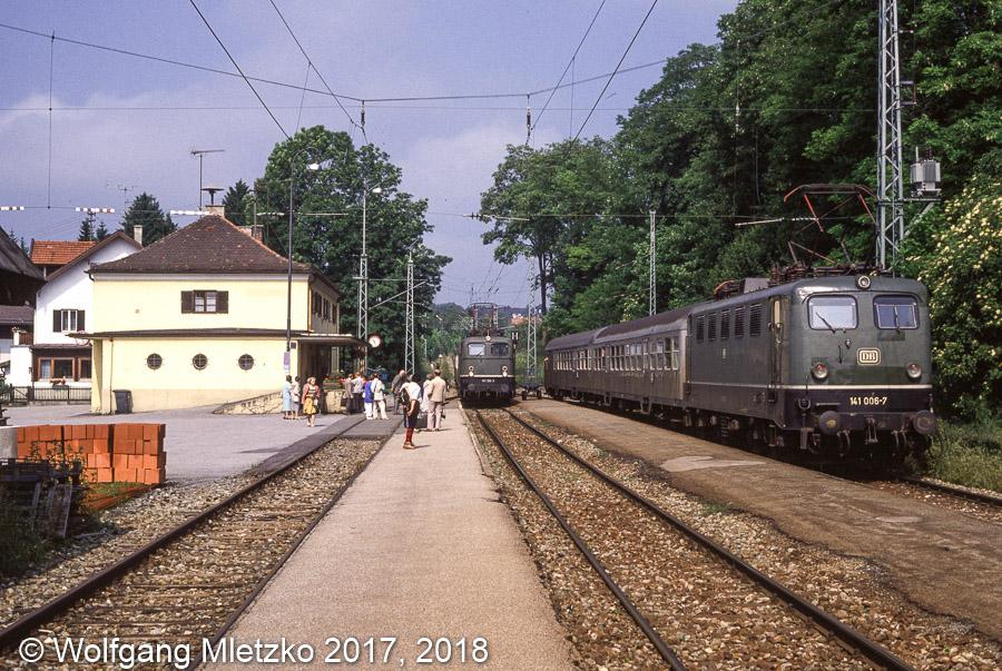 141 126 und 141 006 in Bad Kohlgrub am 25.06.1989