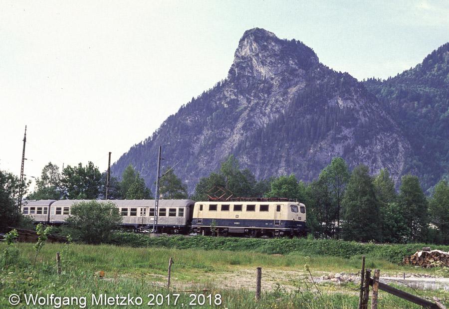 141 008 bei Oberammergau am 02.06.1990