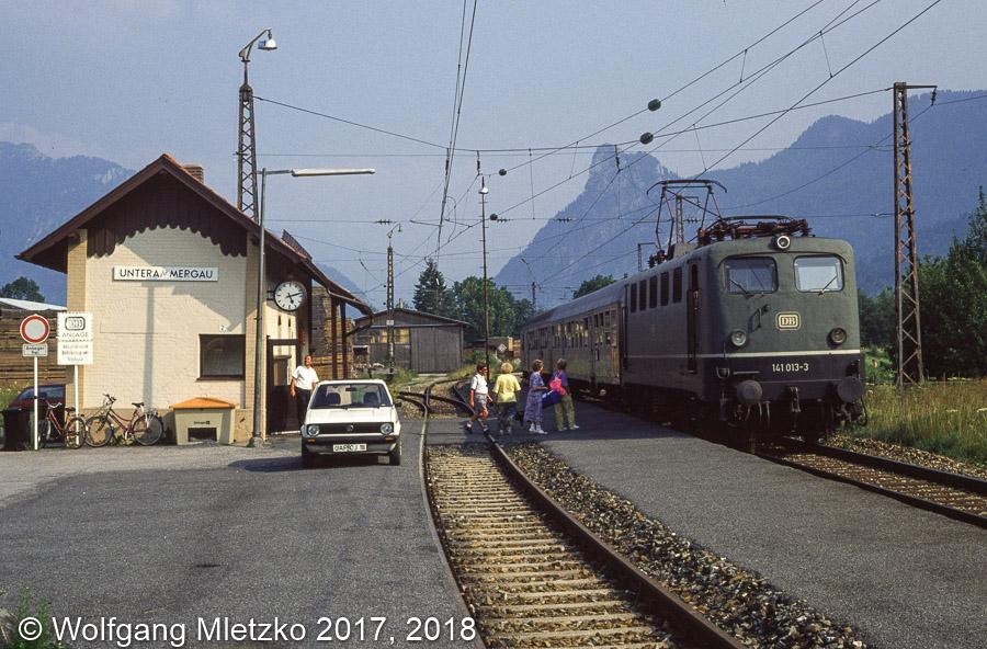 141 013 in Unterammergau am 28.07.1990