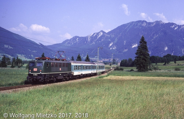 141 098 bei Oberammergau am 08.07.1995