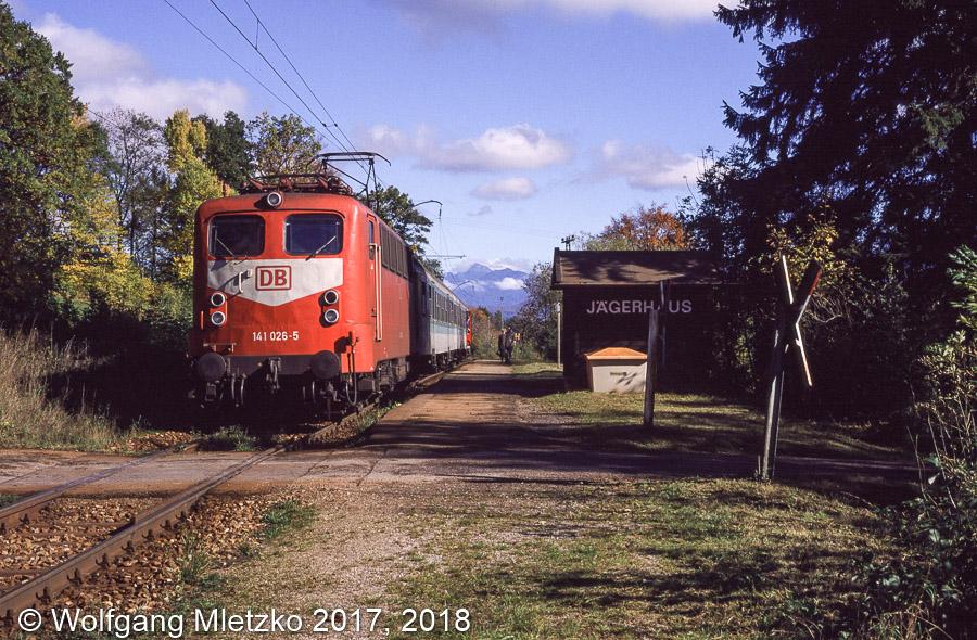 141 026 in Jägerhaus am 16.10.1998
