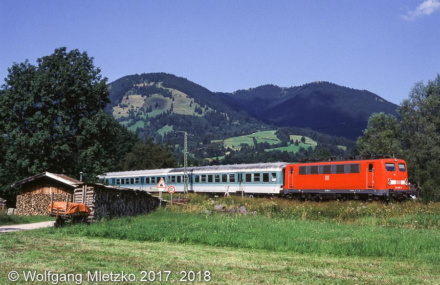 141 062 bei Unterammergau am 02.08.1999