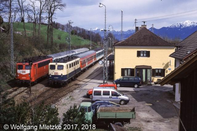 141 032 und 141 370 in Bad Kohlgrub am 16.04.2000