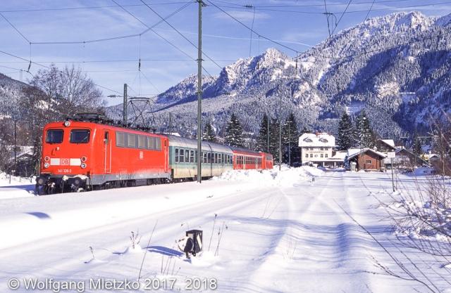 141 126 und 141 366 in Oberammergau am 27.02.2001