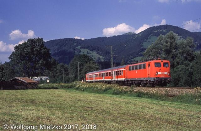 141 366-5 bei Unterammergau am 30.07.2004