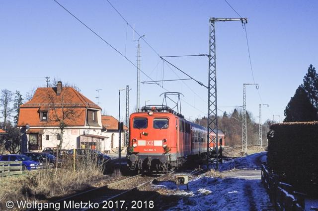 141 366-5 in Saulgrub am 12.12.2004 letzter Einsatztag der Baureihe 141