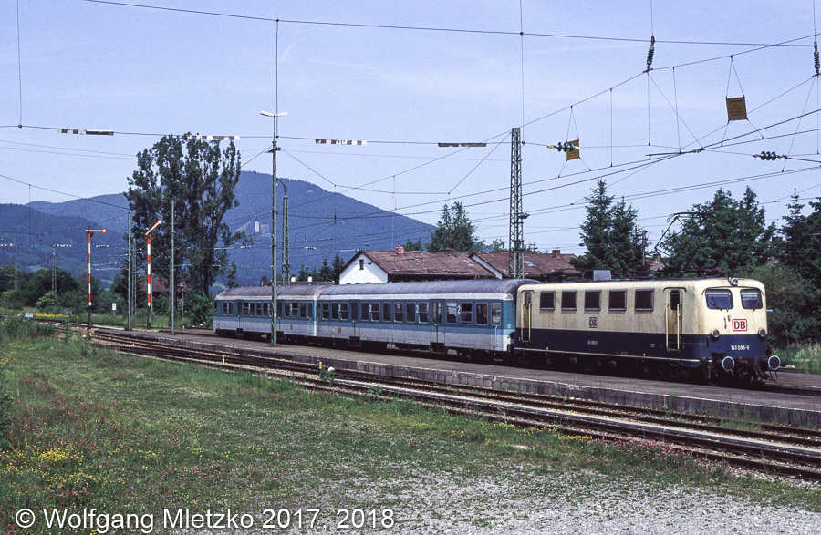 141 086 in Oberammergau am 07.06.1998