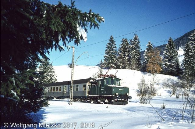 169 002-3 bei Altenau am 29.12.1980