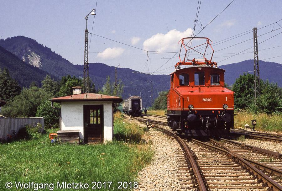 E69 03 in Oberammergau am 17.08.1991