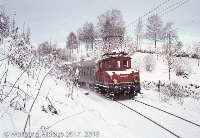 169 003-1 bei Bad Kohlgrub-Kurhaus am 19.11.1980