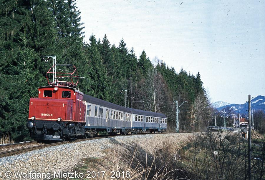 169 005-6 bei Grafenaschau am 20.03.1981