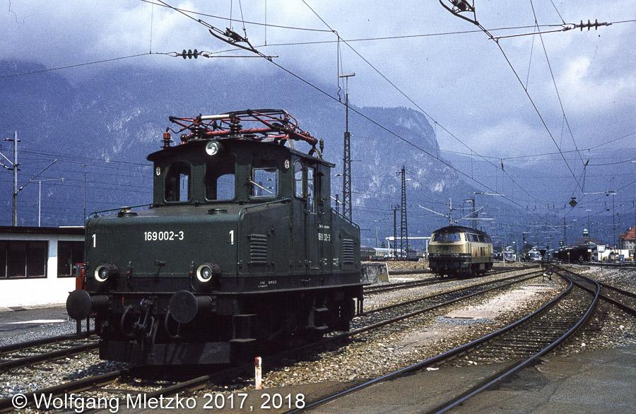 169 002-3 im BW Garmisch am 20.06.1981
