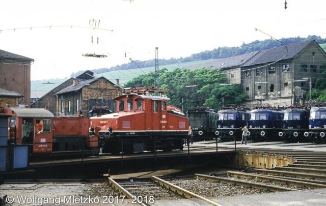 169 003-1 im BW Würzburg am 20.07.1984