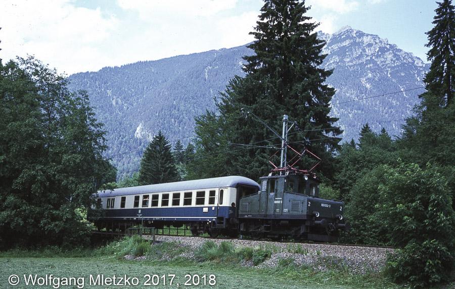 169 002-3 bei Obergrainau am 27.06.1981