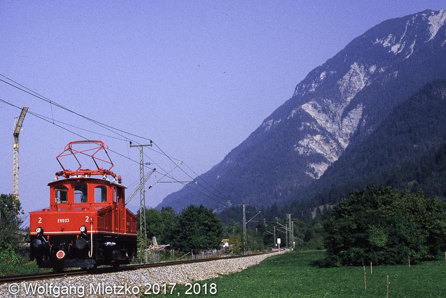 E69 03 bei Farchant am 28.09.1985