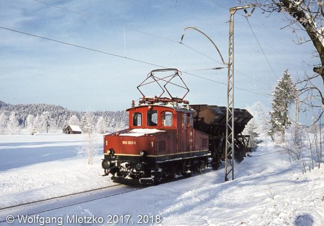 169 003-1 bei Altenau am 30.12.1980