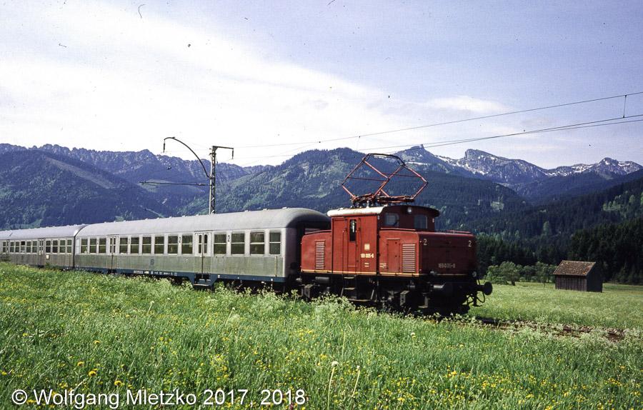 169 005-6 & Ammergebirge bei Altenau am 25.05.1981