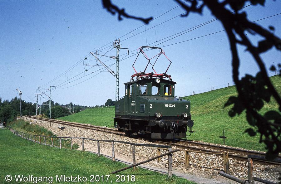 169 002-3 bei Bad-Kohlgrub am 04.09.1980