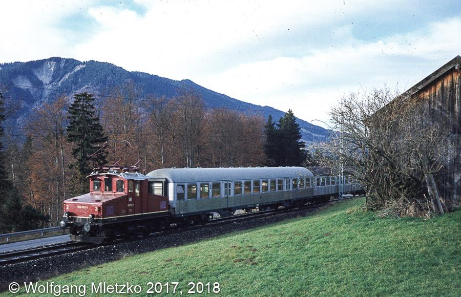 169 003-1 in Grafenaschau am 22.11.1980