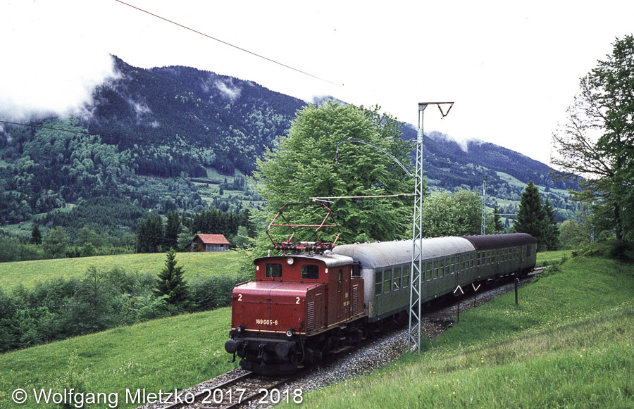 169 005-6 bei Jägerhaus am 27.05.1981