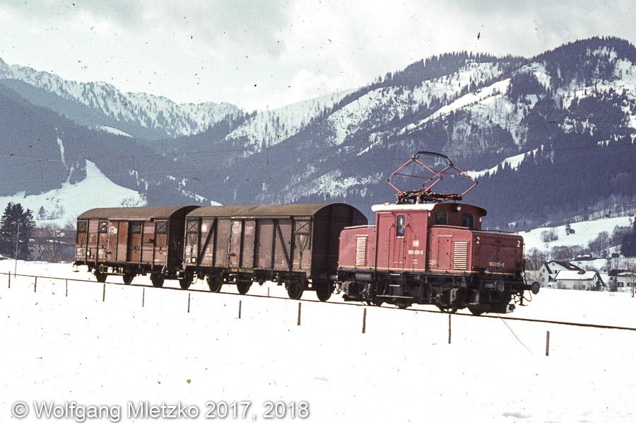 169 005-6 bei Unterammergau am 03.03.1981