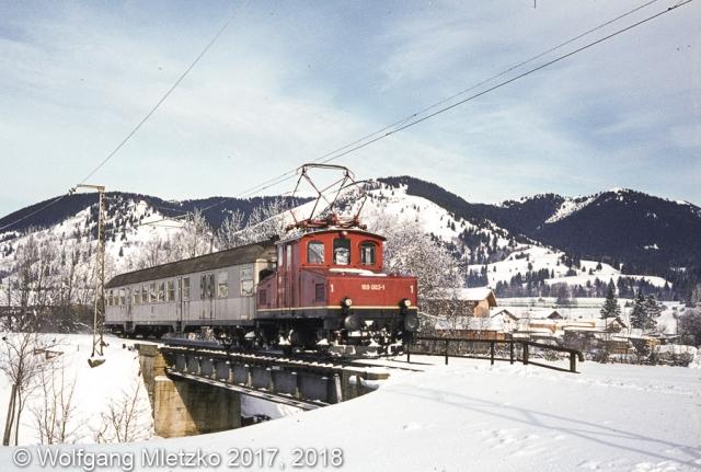 169 003-1 bei Unterammergau am 30.12.1980
