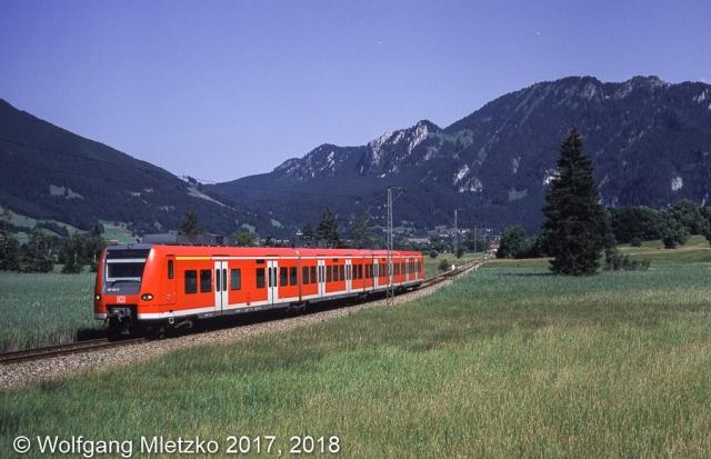 425 143 bei Oberammergau am 05.07.2002