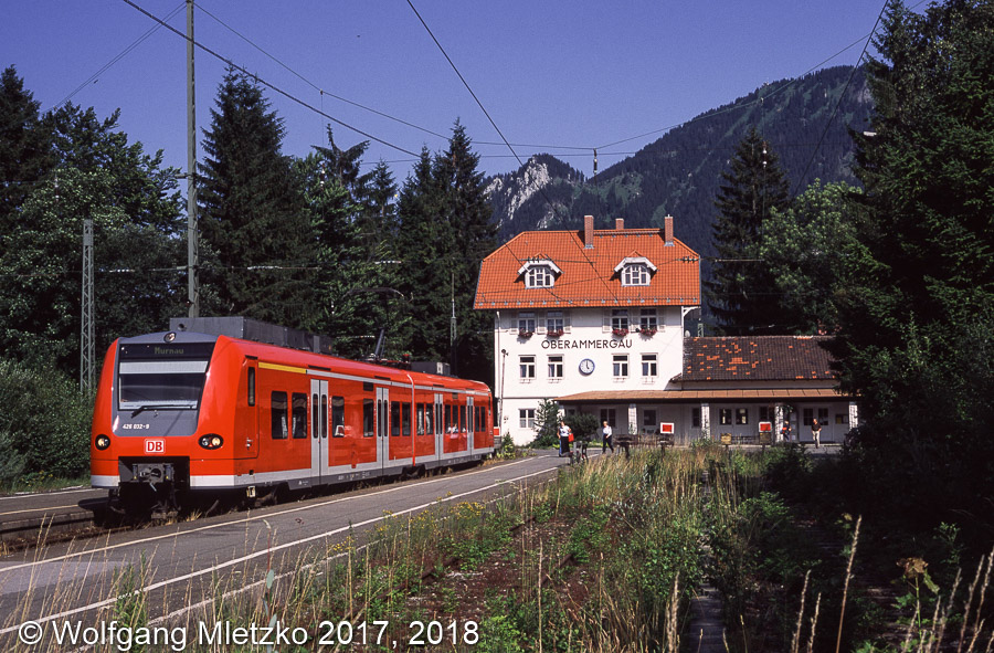 426 032 in Oberammergau am 05.07.2002