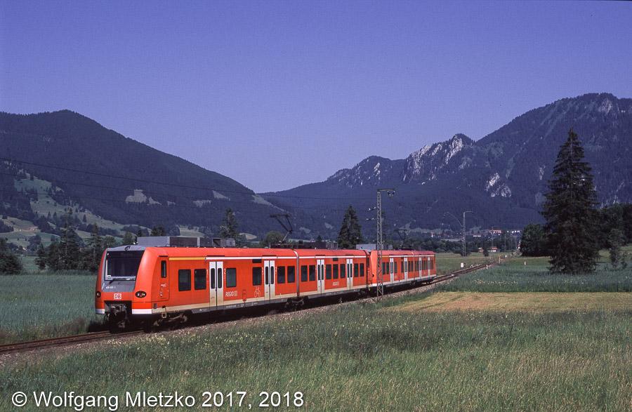 426 031 und 426 034 bei Oberammergau am 03.07.2010