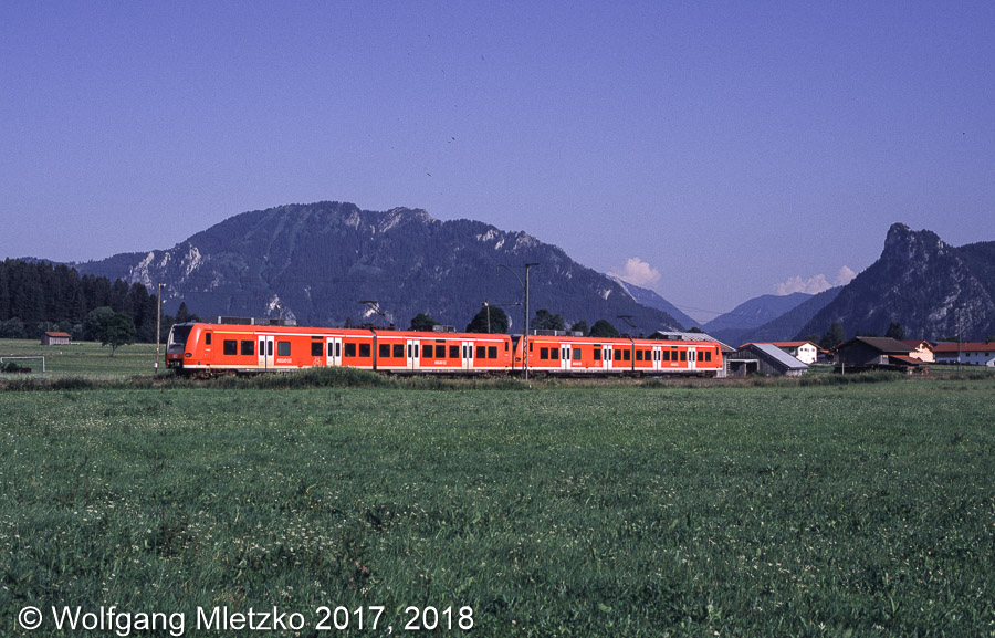 426 034 und 426 031 bei Unterammergau am 03.07.2010