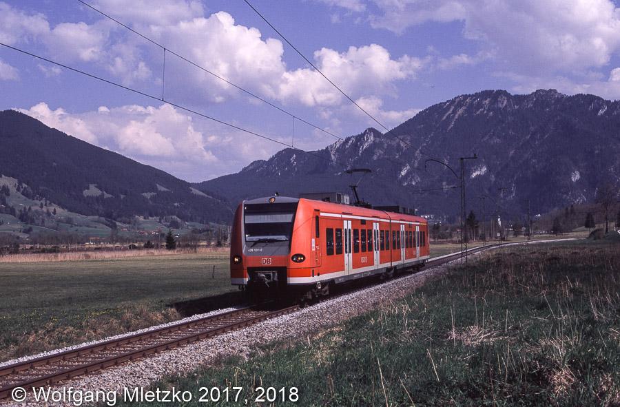 426 031 bei Oberammergau am 22.04.2011