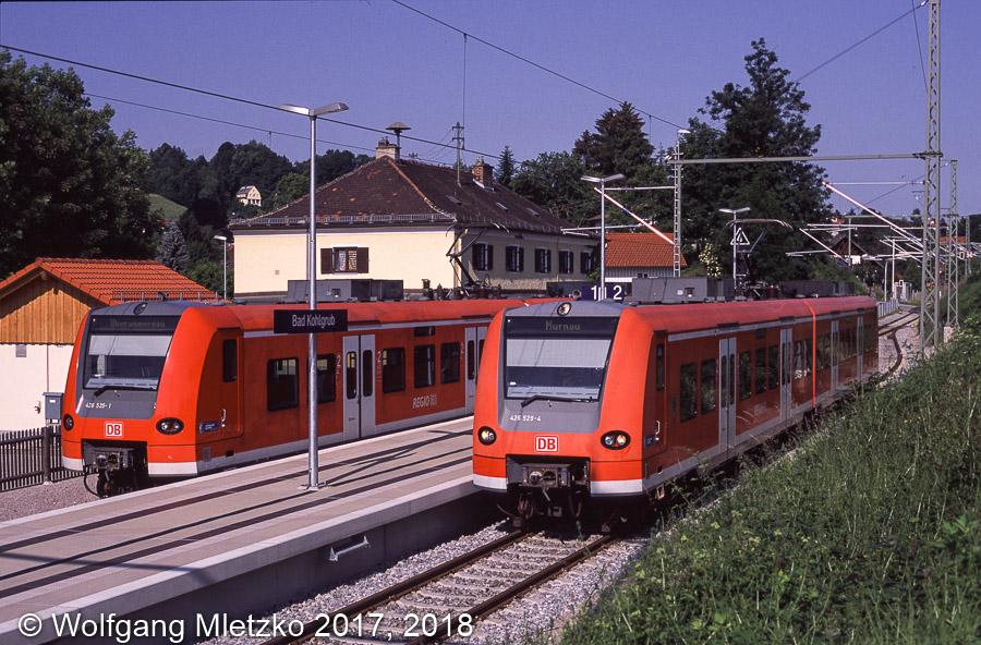 426 529 und 426 525 in Bad Kohlgrub am 17.06.2012
