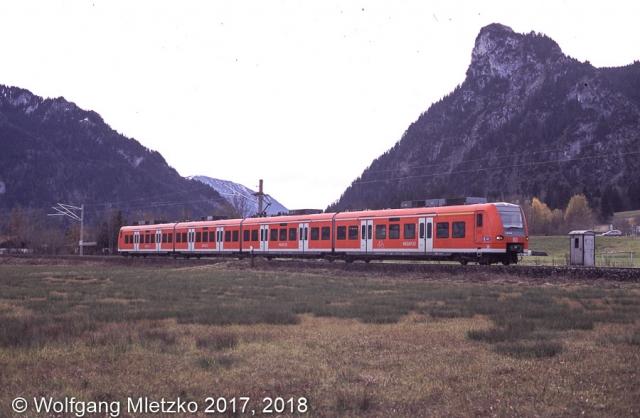 425 145 bei Oberammergau am 10.11.2012