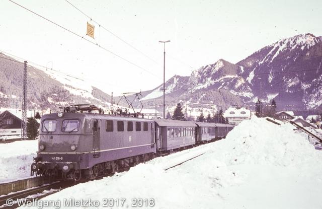 """KBS_963 Oberammergau Sonderzug """"Sport Scheck"""" am 16.01.1982"""