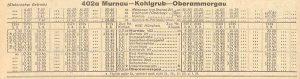 KSB963 Fahrplan von 1944